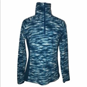 Columbia Women's Small 1/2 Zip Fleece Jacket Blue